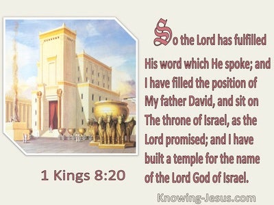 1 Kings 8:20 I HavedBuilt A Temple For The Name Of The Lord God Of Israel (beige)